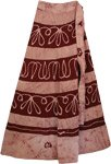 Heath Rose Long Wrap Ethnic Skirt