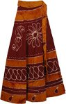 Heath Oregon Long Wrap Skirt