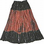 Boho Chic Tie Dye Sequin Skirt
