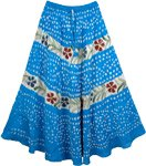 Curious Blue Hand Painted Tie Dye Cotton Skirt