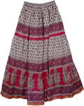 Mushy Print Cotton Print Long Skirt