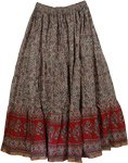 Sand Burgundy Summer Long Skirt