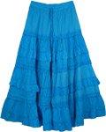 Cerulean Blue Frills Celebration Skirt