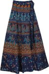Chathams Blue Ethnic Wrap Long Skirt