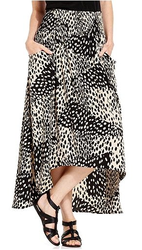Flirty Animal Print Maxi Skirt