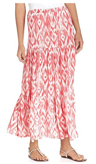 Amaranth Freedom Maxi Skirt
