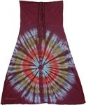 Tantrik Wine Berry Hippie Skirt XS to S