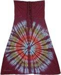 Tantrik Wine Berry Fashion Skirt