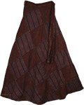 Buccaneer Chocolate Wrap Long Skirt