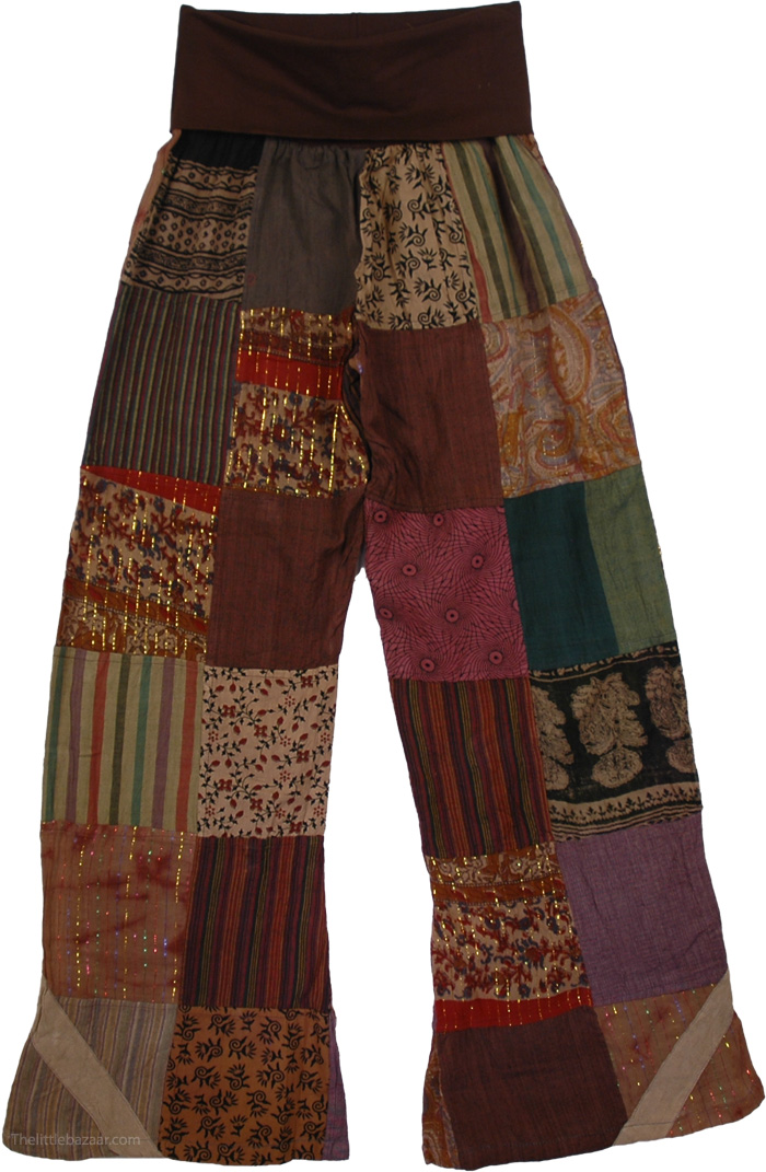 Yoga Lounge Patchwork Trousers