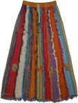 Barista Patchwork Cotton Frill Skirt