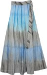 Serendipity Haze Blue Grey Wrap Skirt