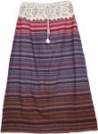 Cotton Charm Striped Long Skirt
