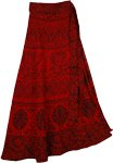 Bulgarian Red Soft Wrap Skirt