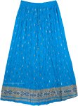 Cerulean Crinkled Light Beach Skirt