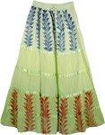Bohemian Spread Green Skirt
