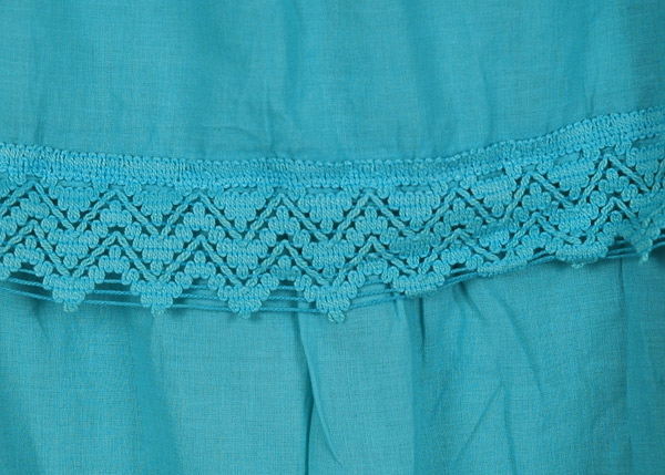 Bondi Blue Frills Long Skirt