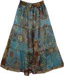 Chiffon Coral Long Skirt