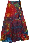 Cosmic Radiance Tie Dye Wrap Long Skirt