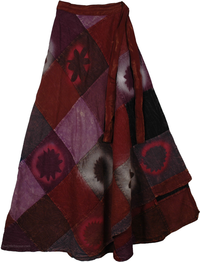 Purple Espresso Wrap Fall Skirt