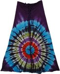 Revol Wine Berry Tie Dye Skirt