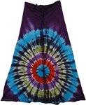 Revol Wine Berry Tie Dye Skirt