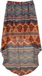 Geo Print Hi Low Skirt