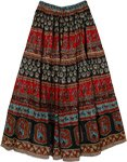 Tribal Printed Cotton with Tinsel Skirt