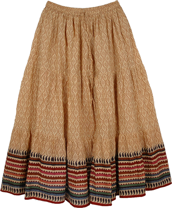 Plus Size Biege Summer Cool Skirt