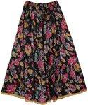 Night Flowers Womens Long Skirt