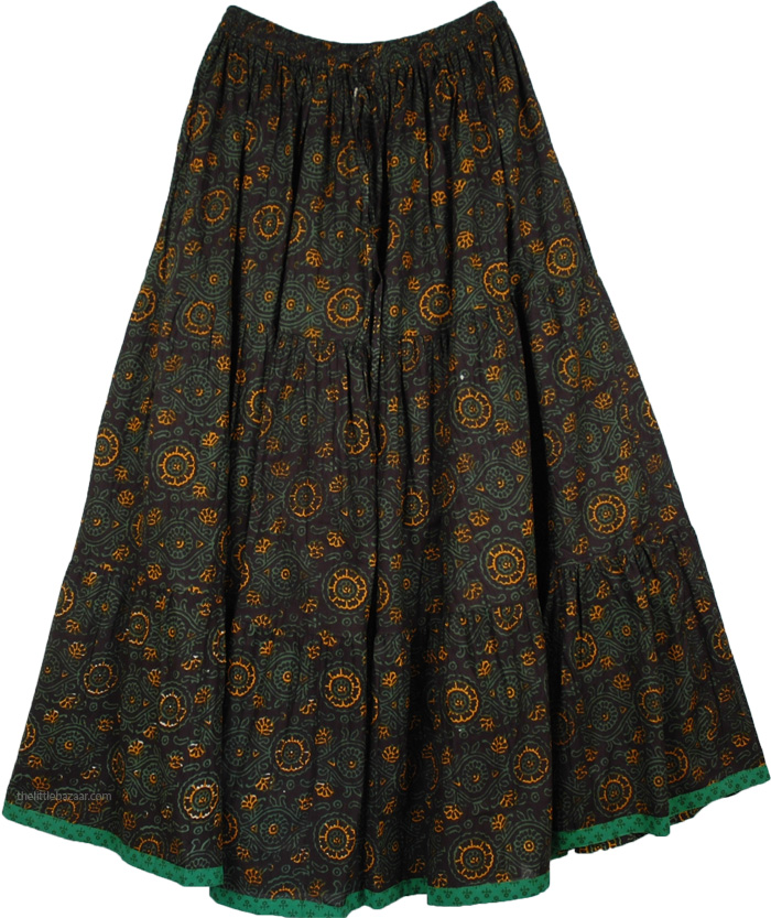 Dark Sienna XL Long Skirt