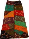 Bohemian Gypsy Embroidery Long Fall Skirt