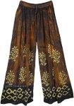 Wide Leg Batik Printed Boho Pants