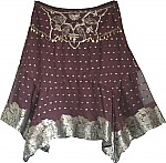Womens Short Party Skirt with Sequins