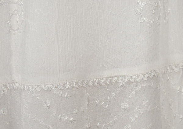 White Decor Crepe Skirt