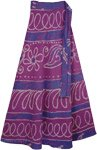 Violet Eggplant Womens Wrap Skirt