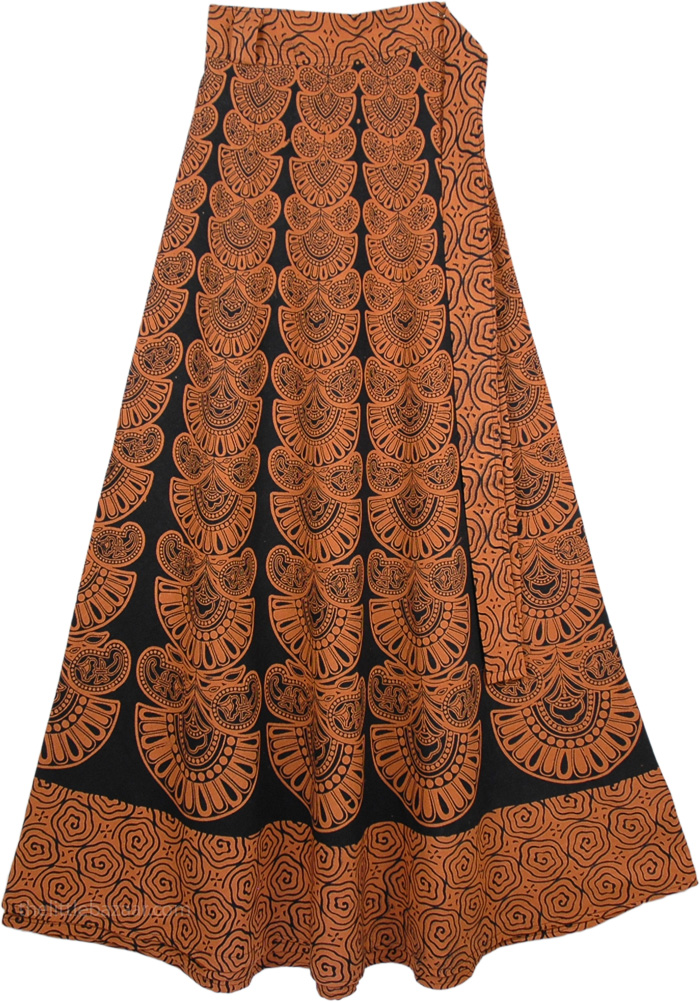 Mai Tai Brown Black Skirt