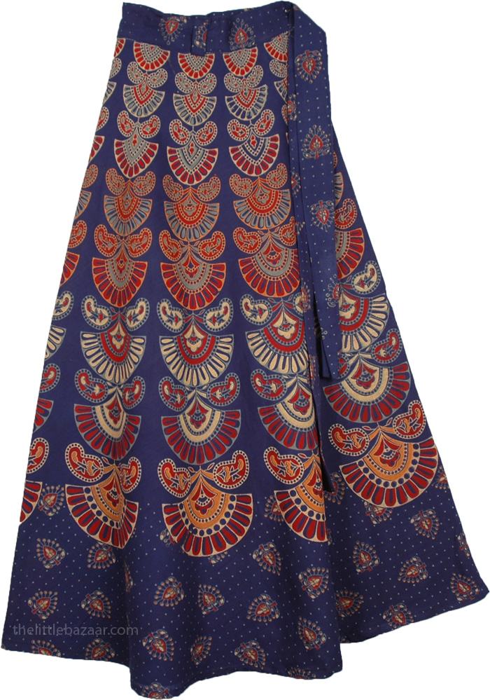 Sunlight Blue Wrap Around Skirt