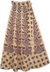 Madonna Purple Wrap Around Skirt