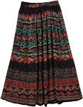 Tribal Dance Colors Skirt