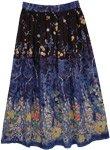 Blue Bayou Street Cotton Long Skirt