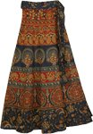 Everglades Ethnic Long Wrap Skirt
