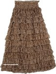 Leopard Print Womens Ruffle Skirt