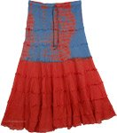 Poppy Tie Dye Summer Cotton Skirt