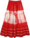 Crimson Punch Tie Dye Skirt