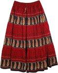 Milano Red Summer Long Skirt