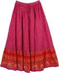 Hibiscus Cotton Patio Skirt