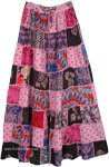 Vintage Style Patchwork Colorful Gypsy Skirt