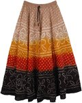 Firebird Tie Dye Pull-On Cotton Summer Skirt