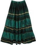 Gable Green Georgette Skirt